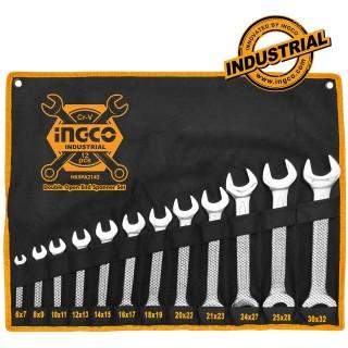 INGCO Επαγγελματικό σετ 12 τεμάχια γερμανικά κλειδιά HKSPA2142