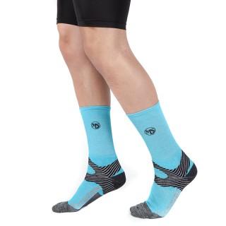 MS Κάλτσες Running Τεχνική Μακριά χρώμα μπλε-γκρι